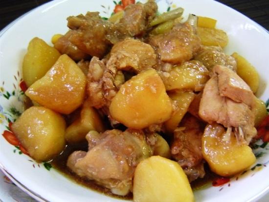 картошка с курицей в мультиварке рецепт