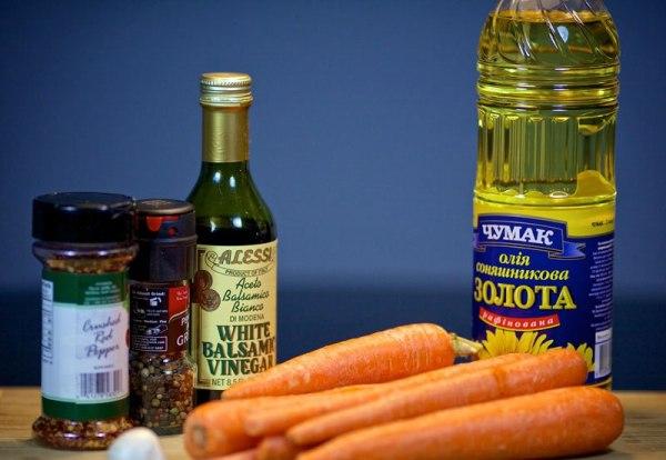 Ингредиенты для морковки по-корейски