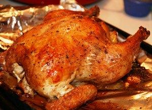 подаем курицу на стол