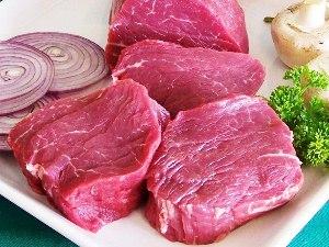 нарезаем мясо на куски