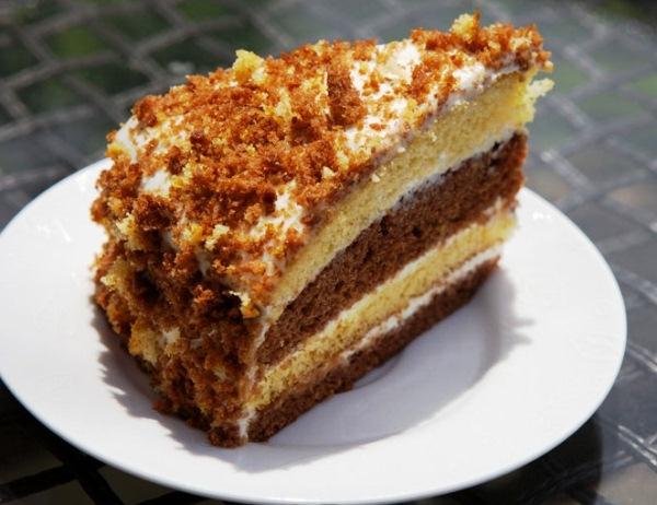 Торт с сметаной в мультиварке