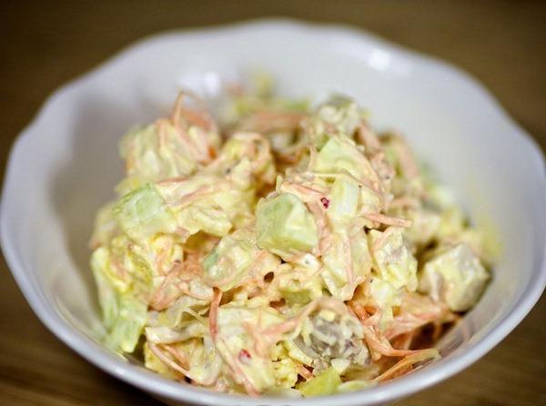 Салат с корейской морковью и курицей
