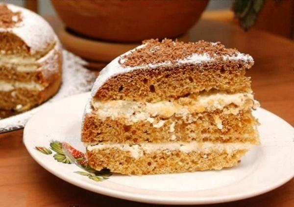 Медовый бисквитный торт в мультиварке фото рецепт Коломна