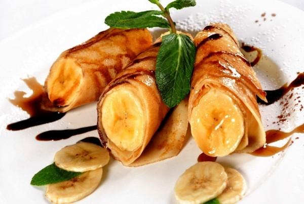 Банановая начинка для блинчиков