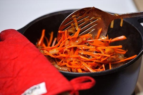 Часто перемешиваем морковь