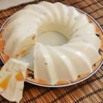 Творожный десерт с желатином и ананасом