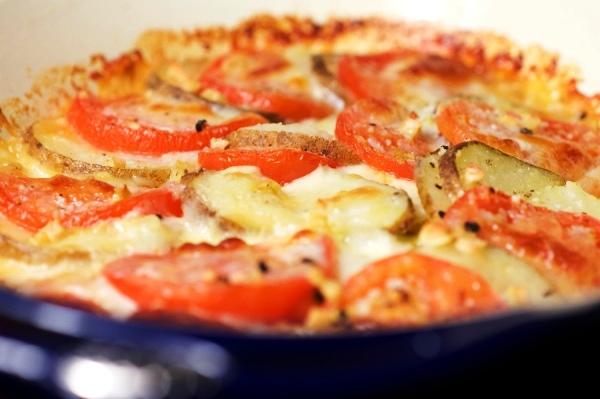 Запеченые овощи под сыром