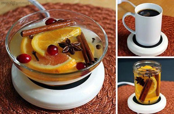 Нагреть смесь в чашке для подогрева чая