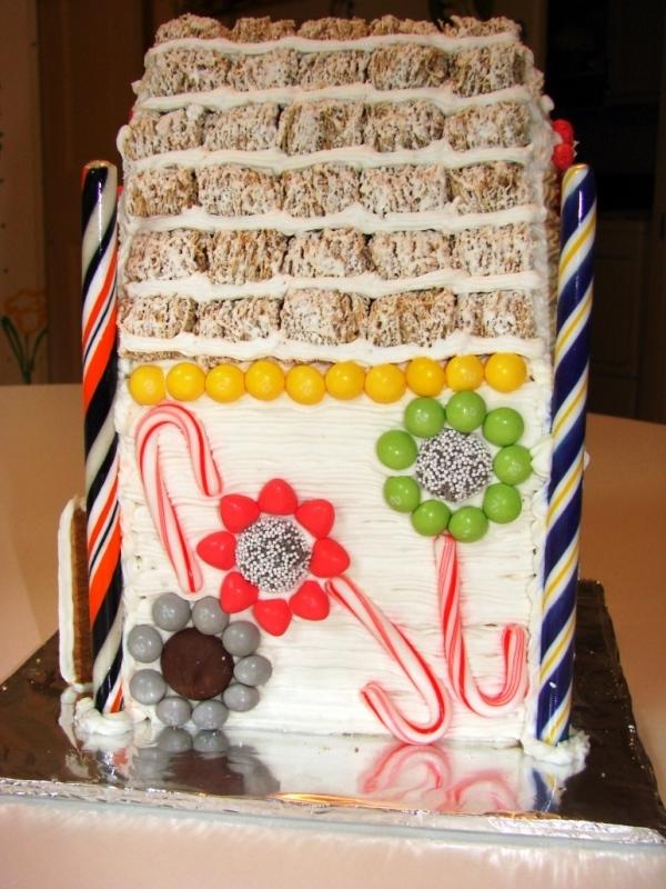 творожный торт из печенья домик
