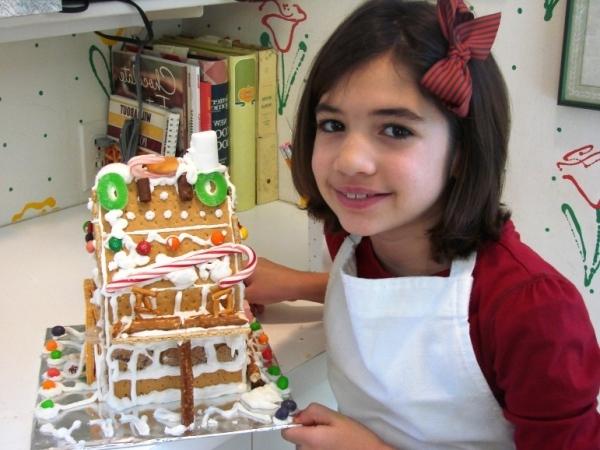 готовим торт домик из печенья и творога