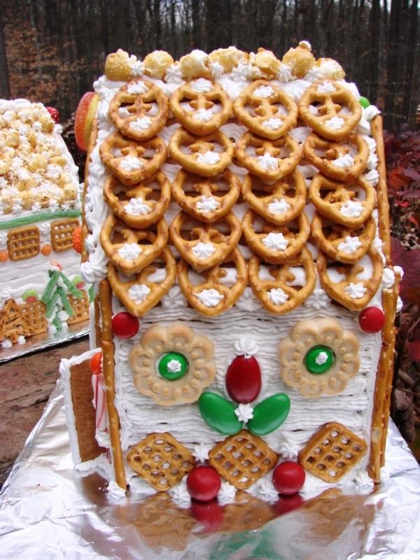торт домик из печенья и творога