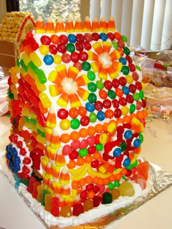 торт без выпечки домик
