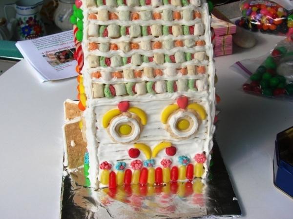 торт домик в деревне
