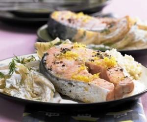 Маринованный лосось с фенхелем