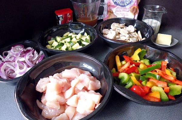Подготовим все ингредиенты для овощного рагу