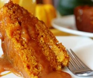 Тыквенный торт с карамельным кремом