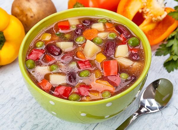 Овощной суп самый полезный