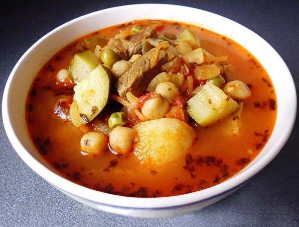 Суп с кабачками в мультиварке