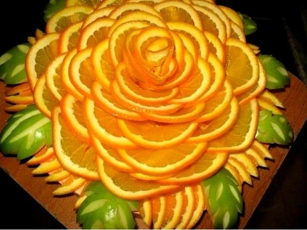 Украшение блюд из овощей и фруктов