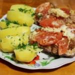 Мясо по купечески с грибами