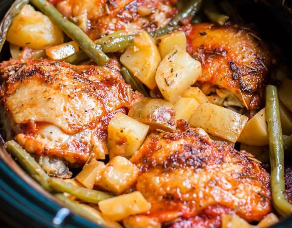 Запеченная курица в мультиварке рецепты с картошкой в духовке