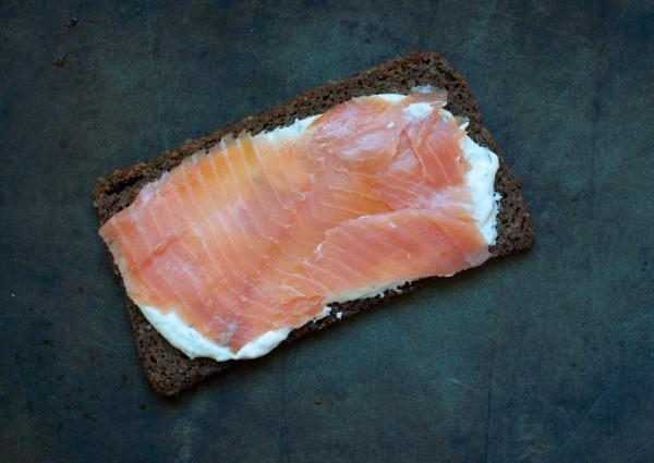 Бутерброды с семгой фото