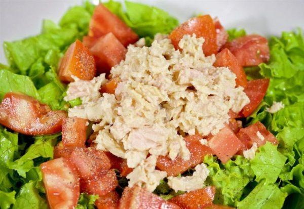 Салаты с тунцом консервированным рецепты с фото