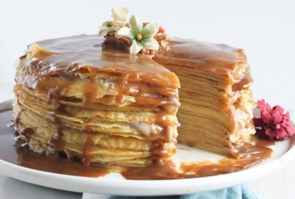 Торт из блинов со сгущенкой - фаворит масленичного стола