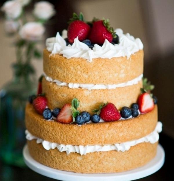 Голый торт с фруктами рецепт с фото