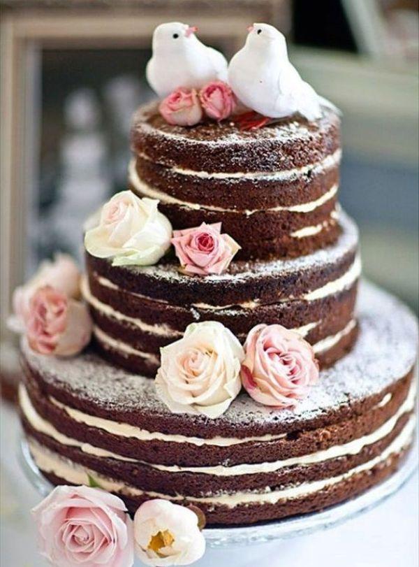 Голый шоколадный торт
