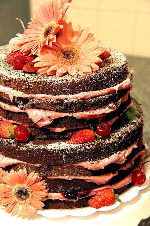 Голый торт с фруктами рецепт