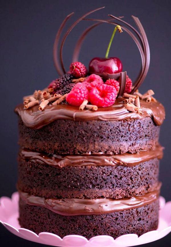 Голый торт красный бархат
