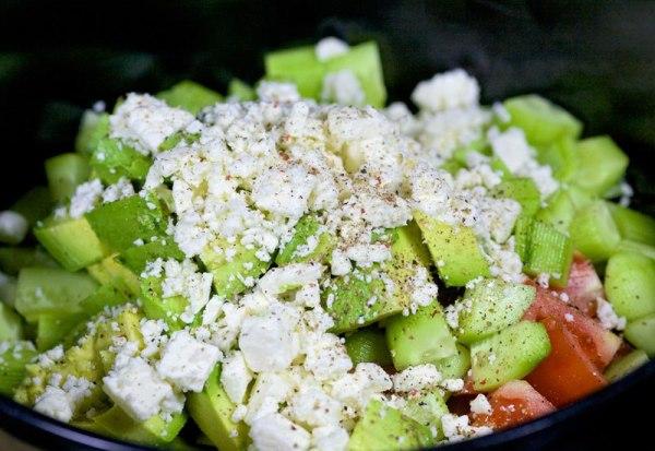 Салат с авокадо вкусный и простой