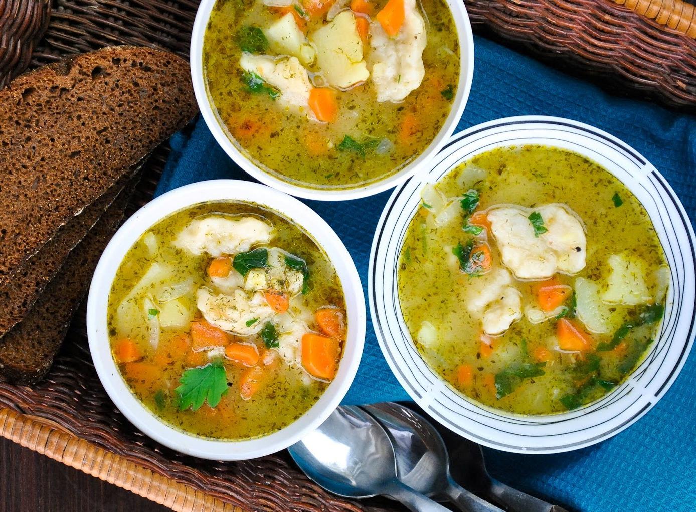 Рецепт супа с клецками с пошаговым фото