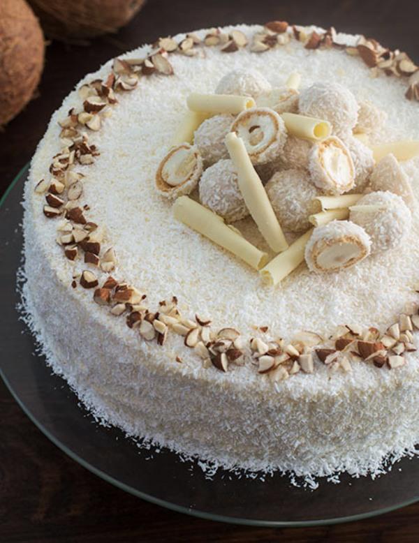 Торт с кокосовой стружкой рецепт с фото