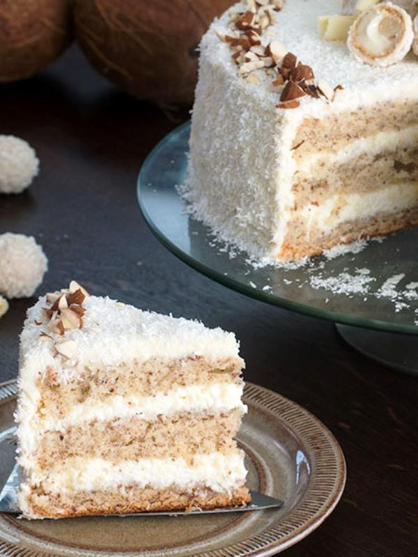 Кокосовый торт рафаэлло рецепт с фото