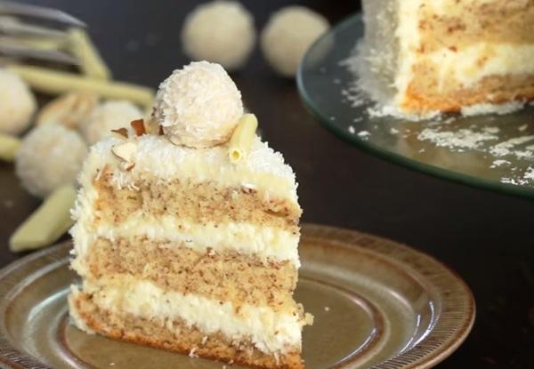 Торт с кокосовым молоком