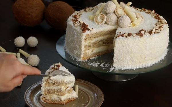 Кокосовый торт рецепт