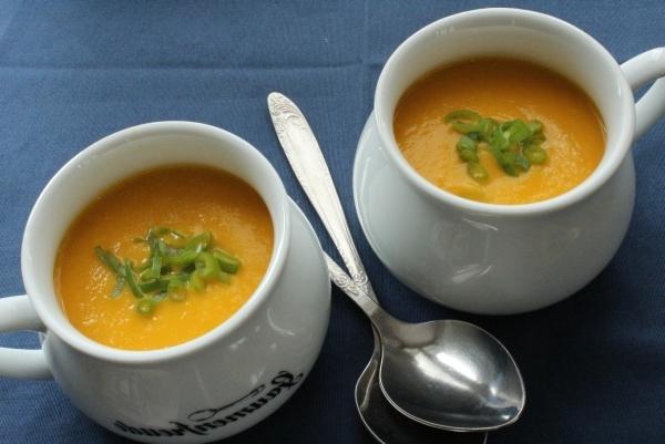 Морковный суп пюре со сливками