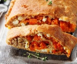 Пирог с морковной начинкой