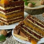 Ореховый торт с грецкими орехами
