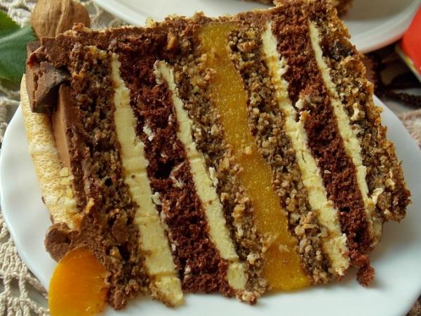 Ореховый торт с грецкими орехами простой рецепт