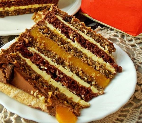 Шикарный Новогодний торт с орехами