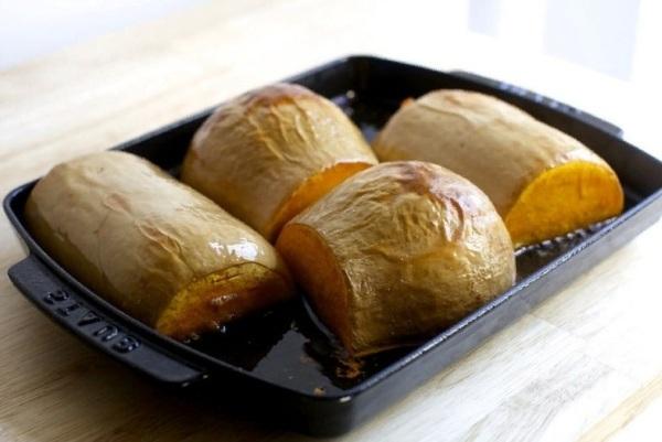 Запекаем тыкву в печи для получения тыквенного пюре