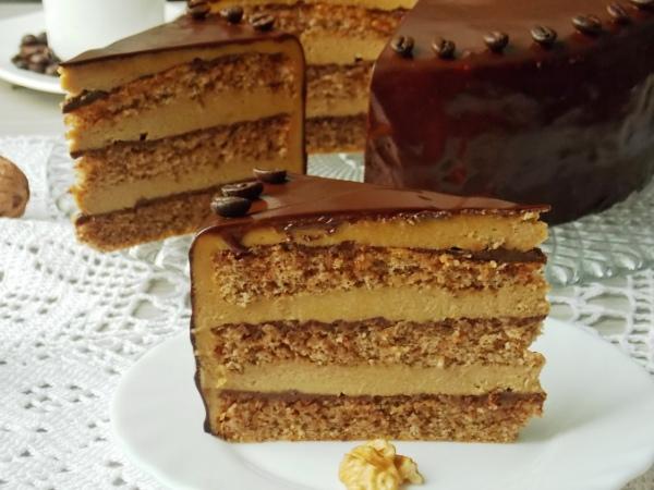 Шоколадно ореховый торт рецепт с фото