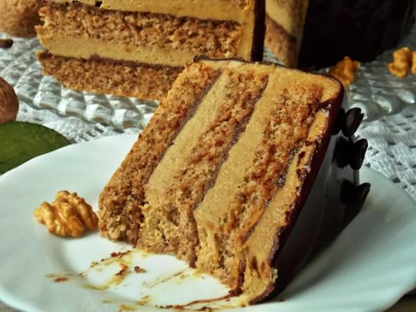 Торт ореховый бисквитный рецепт с фото