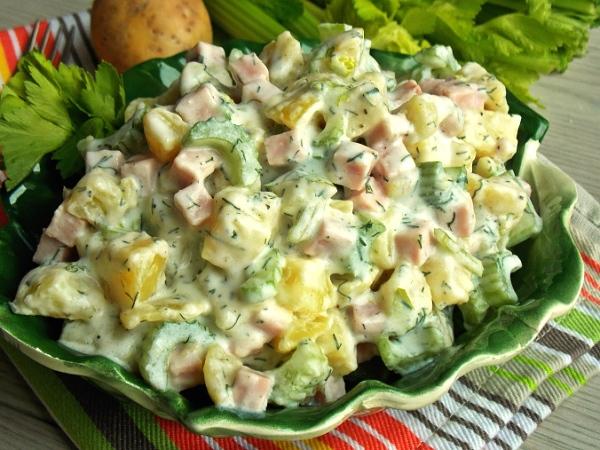 Немецкий картофельный салат классический рецепт с фото