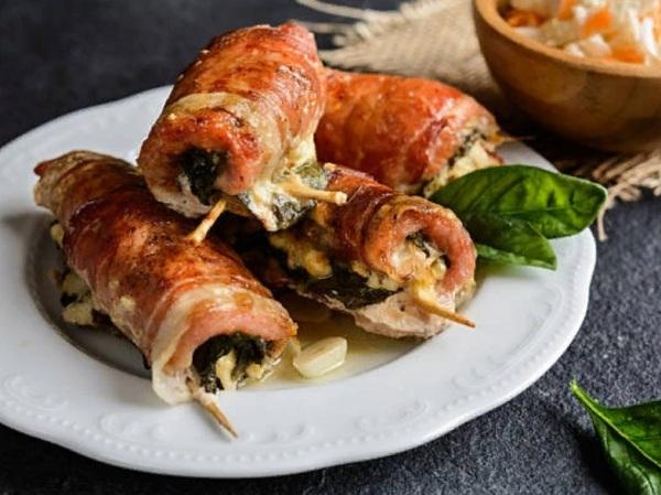 Рулетики из свинины с сыром в духовке