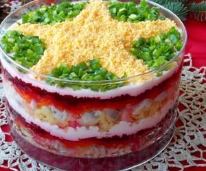 Салат селедка под шубой слои