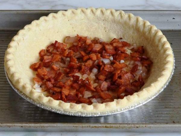 Луковый пирог простой рецепт